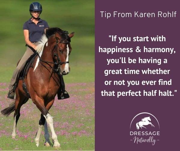 Dressage Naturally & Karen Rohlf Tip 9