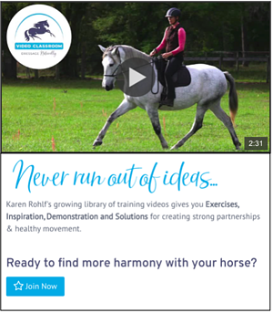 Karen Rohlf Dressage Naturally Video Classroom