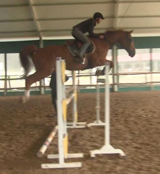 Karen jumping