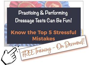 Free training video about dressage competition
