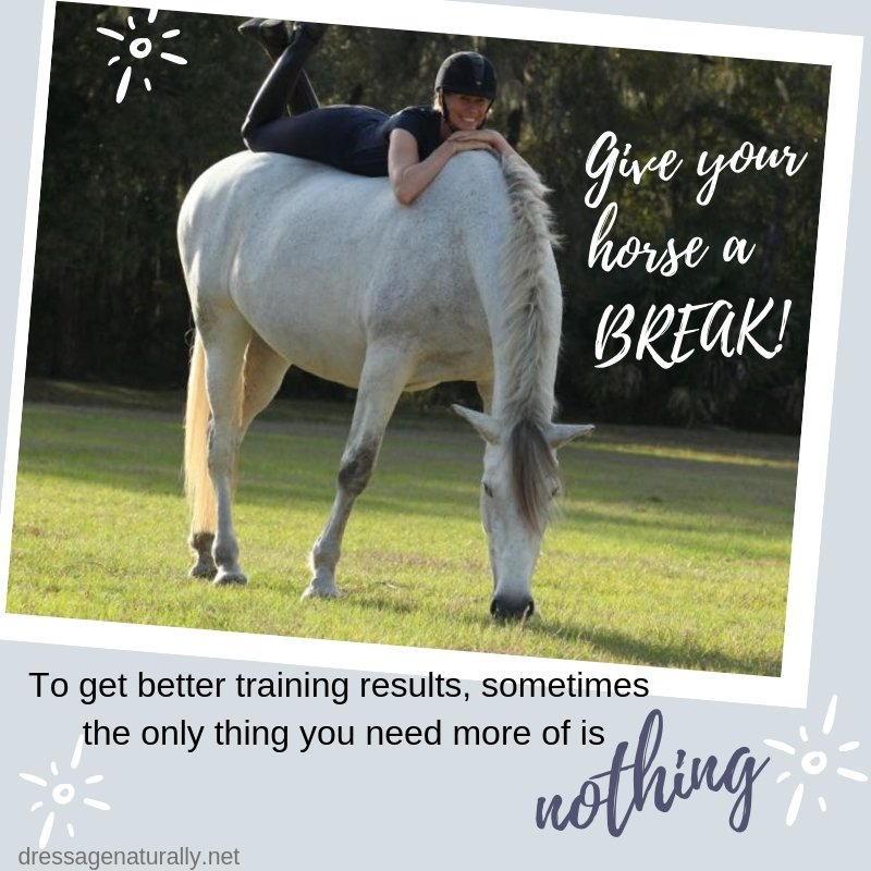 Give Your Horse A Break Dressage Naturally